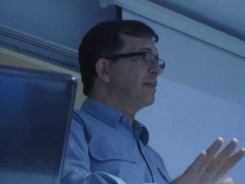 O palestrante Marcos Leite.